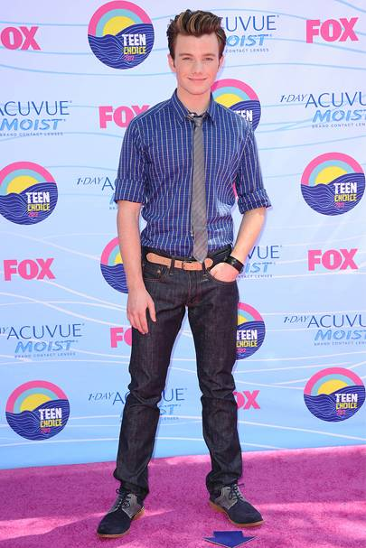 Chris Colfer at the Teen Choice Awards 2012