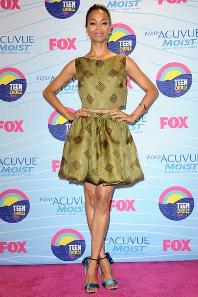 Zoe Saldana at the Teen Choice Awards 2012