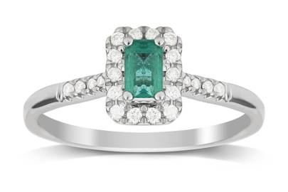 Victoria Beckham-Inspired Engagement Rings - The Emerald One