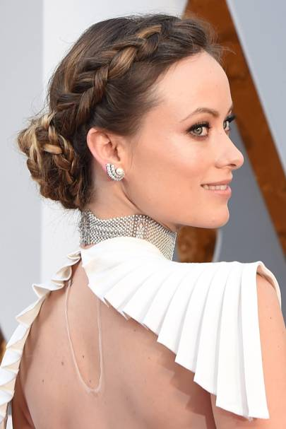 Olivia Wilde's halo braid