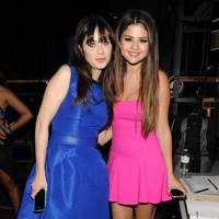 Zooey Deschanel and Selena Gomez at the Teen Choice Awards 2012