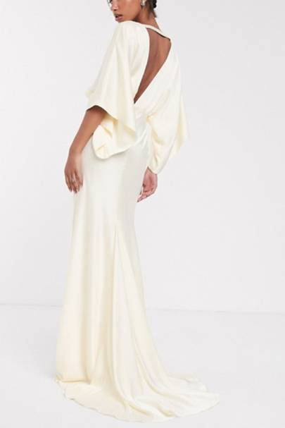 Best ASOS wedding dress with plunge detailing