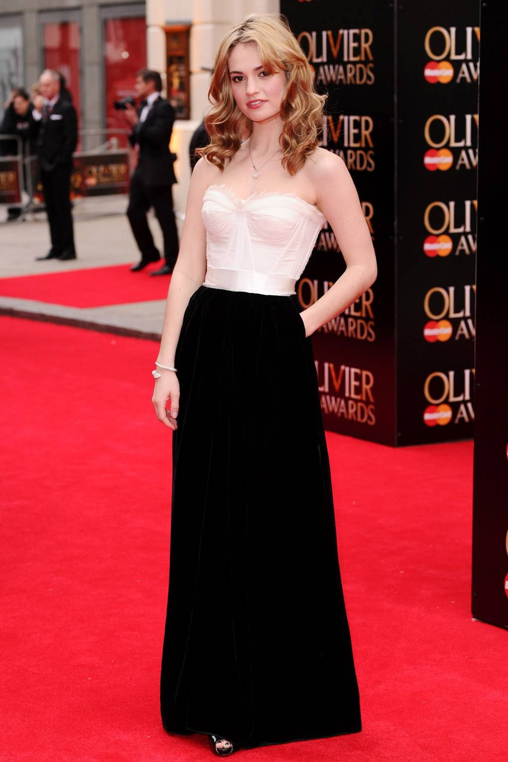 fa84d6c7bb7b lily james red carpet style cinderella street outfits clothes; GLAMOUR.com  (UK) | Glamour UK