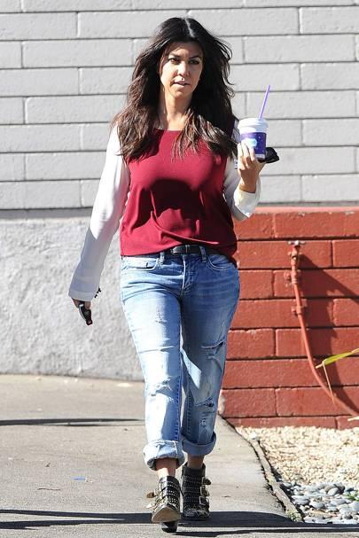 Kourtney Kardashian on the street in LA