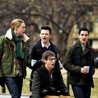 Chord Overstreet, Kevin McHale, Chris Colfer & Darren Criss in Glee