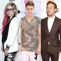Justin Bieber, Avril Lavigne & Ryan Gosling