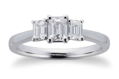 Victoria Beckham-Inspired Engagement Rings - Emerald Cut