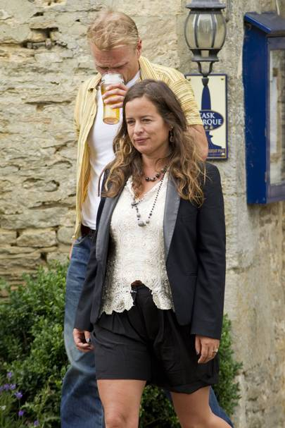 Jade Jagger arrives for Kate Moss' wedding to Jamie Hince