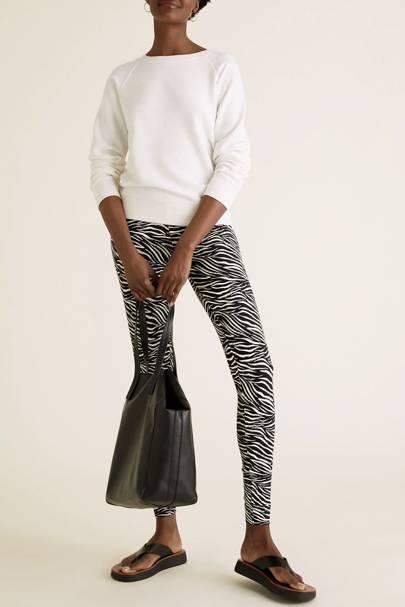 Zebra Print Trousers - Marks & Spencer