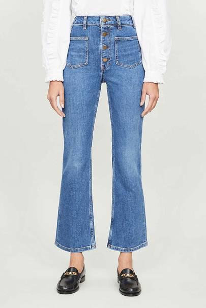 Best Straight-Leg High-Waisted Jeans UK: MAJE