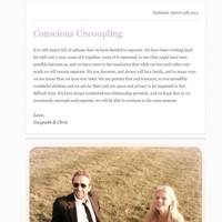 The Conscious Uncoupling Couple