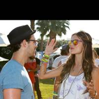 Joe Jonas and Alessandra Ambrosio at Coachella