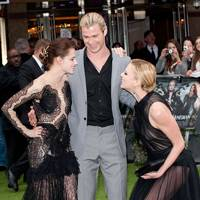 Kristen Stewart, Chris Hemsworth and Charlize Theron