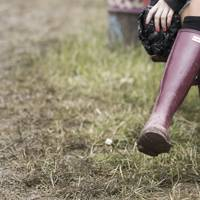 This is the Hunter welly everyone will be wearing during festival season