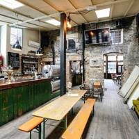 The informal celebration: The Crown & Shuttle, Shoreditch