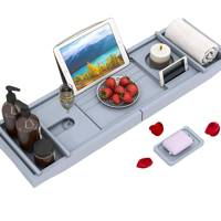 Best bath tray with wine glass holder
