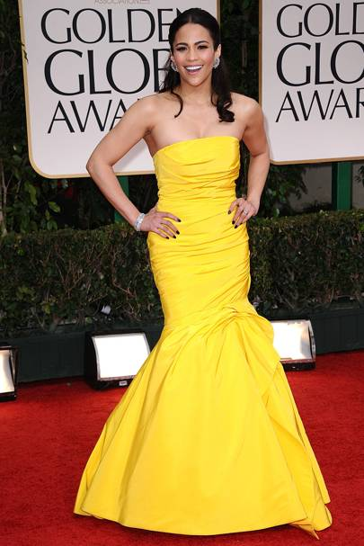 Paula Patton at the Golden Globes 2012