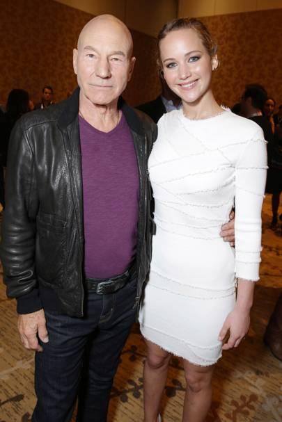 Patrick Stewart & Jennifer Lawrence