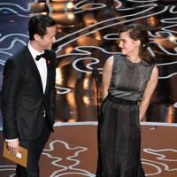 Joseph Gordon-Levitt and Emma Watson