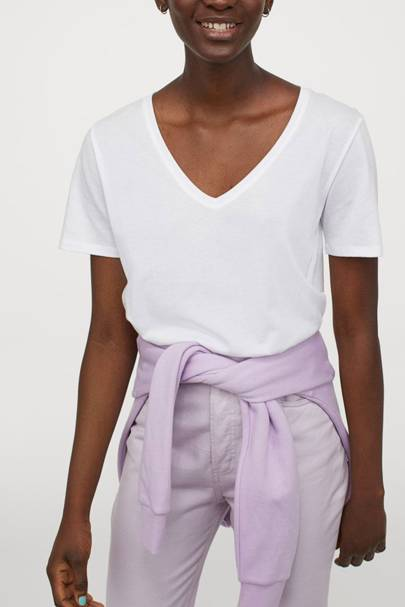 Best V neck t-shirts: H&M