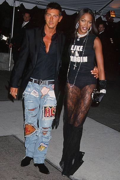Naomi Campbell and Stefano Gabanna, 2001