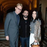 Paul Bettany, Nicolas Ghesquiere and Jennifer Connelly