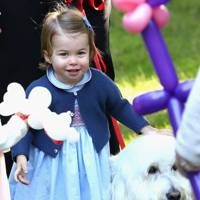 Princess Charlotte met Moose the dog