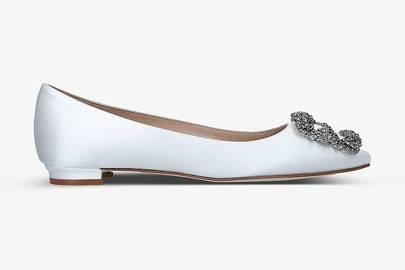 Flat Designer Wedding Shoes: Manolo Blahnik