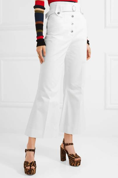 Best white jeans flared