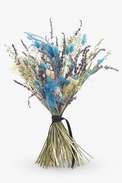 Dried flower bouquet UK: lavender, phalaris, broom, feather and gypsophila