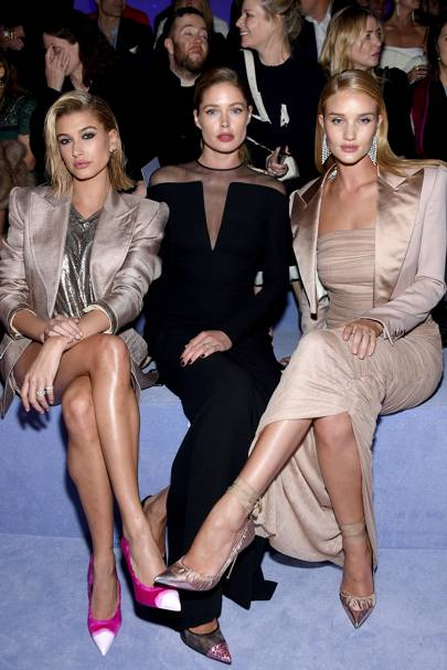 Hailey Baldwin, Doutzen Kroes, and Rosie Huntington-Whiteley