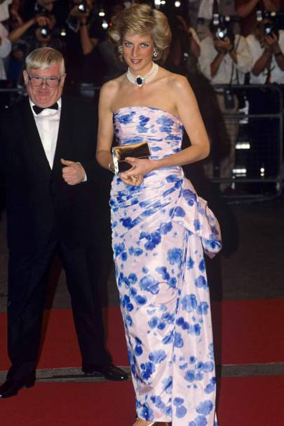 a4b5c50087d The Dress  The bois de rose taffeta strapless dress by Catherine Walker. It  raised  50