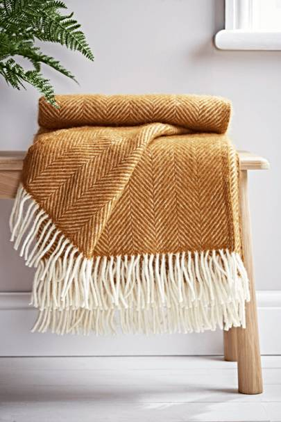 Soft wool throw