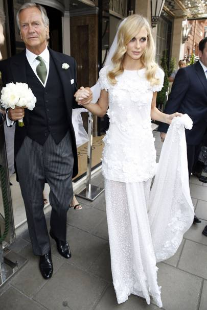 Poppy Delevingne with her dad