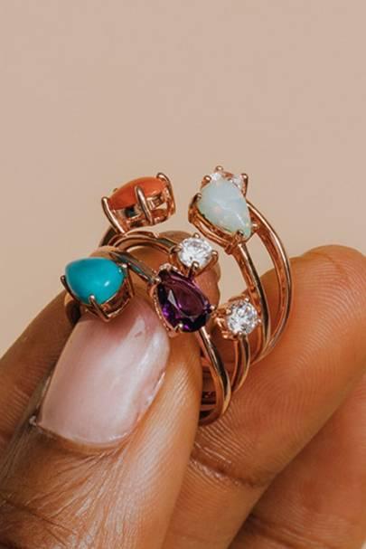 Serpentine Gemstone Rings by Little Sky Stone