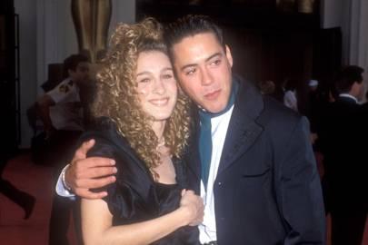 Sarah Jessica Parker and Robert Downey Jr, 1989