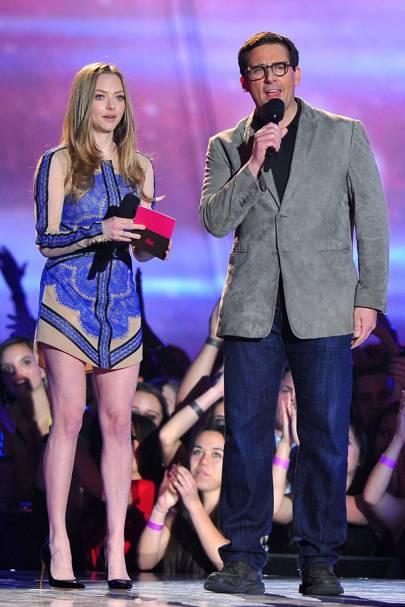 Amanda Seyfried and Steve Carell