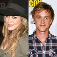 Tom Felton and Hilary Duff