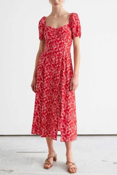 Summer dress puffed sleeve