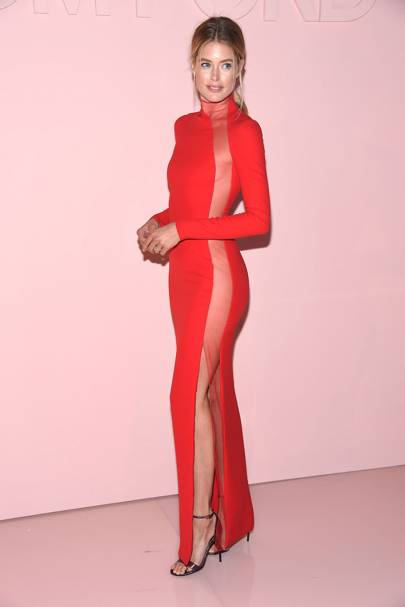 Doutzen Kroes in a Tom Ford gown