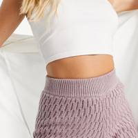 Knitted shorts co-ord