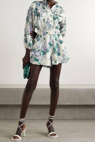 Best Wedding Guest Jumpsuits - Linen Floral