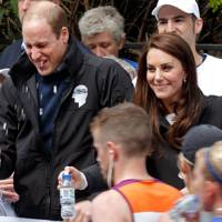 Kate and Will at the London Marathon 2017