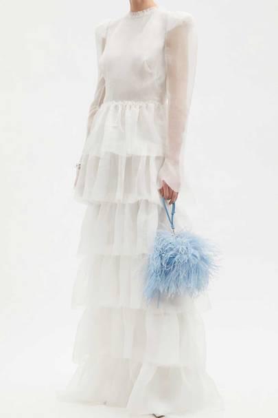 LONG-SLEEVED WEDDING DRESS: TIERED