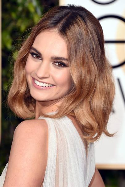 Lily James' rock chick ombre