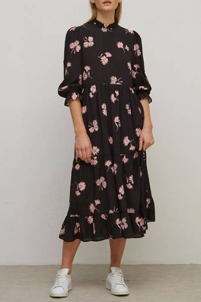 NOBODY'S CHILD AT M&S - FLORAL SMOCK DRESS