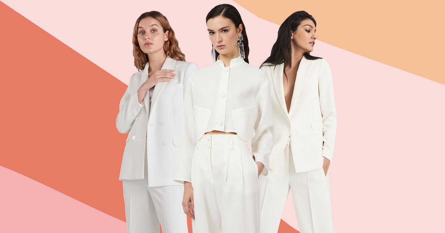 17 of the best super chic wedding suits for women, if a dress isn't really your vibe