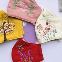 Best Etsy face mask UK: embroidered