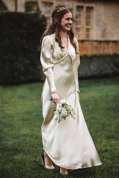 Vintage wedding dress sourced from William Vintage, UK8