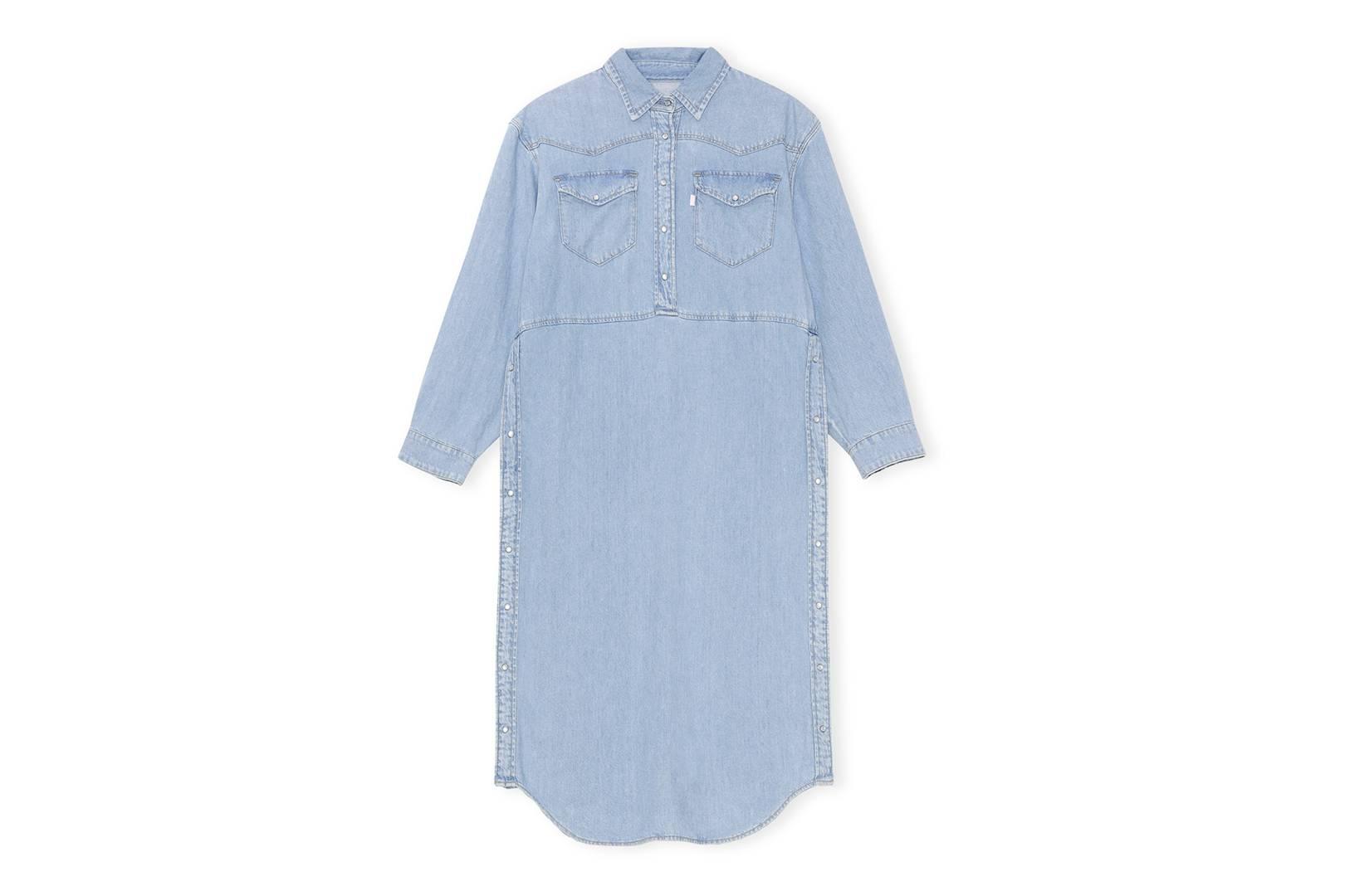 Ganni X Levi's Light Indigo Denim Dress, £275